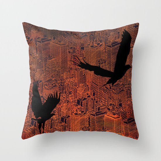 Ecotone (night) Throw Pillow