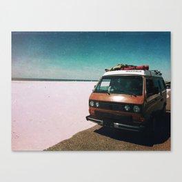 Beached Van Canvas Print