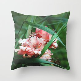 Lace roses Throw Pillow