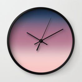 Blue , purple , pink , Ombre Wall Clock