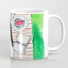 Female and feline1 Coffee Mug