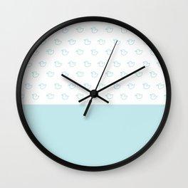 Ducklings Mint Wall Clock