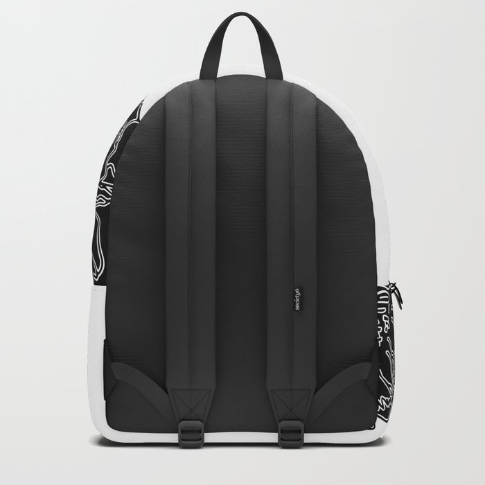 FLORAL IN BLACK AND WHITE Backpack