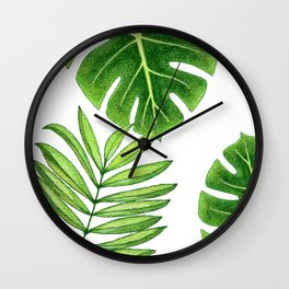 Jungle Leaves Wall Clock