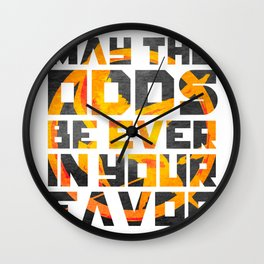 Hunger Games May the Odds Ever be in Your Favor Bright Wall Clock