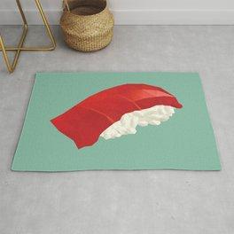 Tuna Nigiri Sushi Polygon Art Rug
