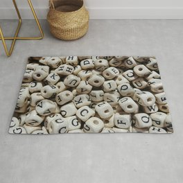 Wooden cubic beads Rug