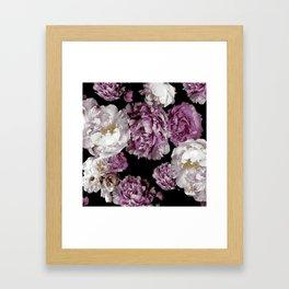 Peony blooms Framed Art Print