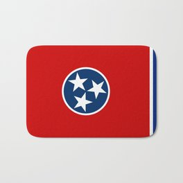 State flag of Tennessee - Authentic version Bath Mat