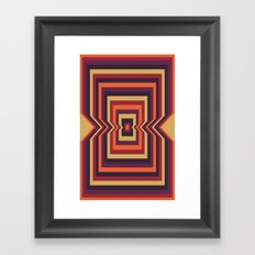 Squared Vortex Framed Art Print
