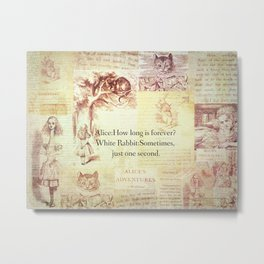 How long is forever? Alice in Wonderland Metal Print