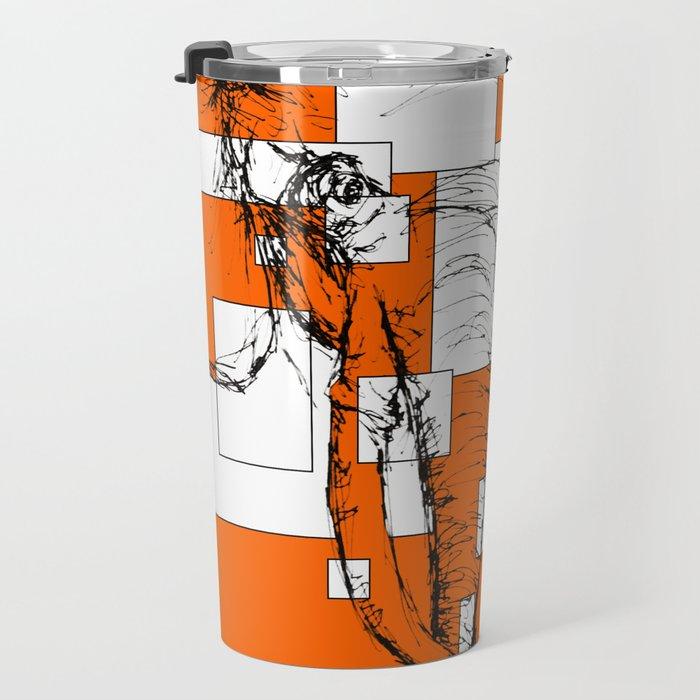 Orange is the New Elephant Travel Mug