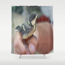 A Bird In The Hand Shower Curtain