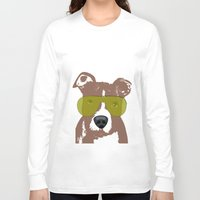pit bull Long Sleeve T-shirts featuring American Pit Bull Terrier by ialbert