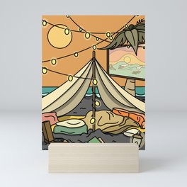 Sleep on the Beach Mini Art Print