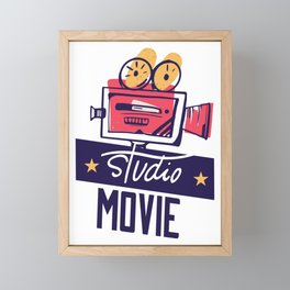 Studio Movie Camera Framed Mini Art Print