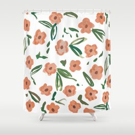Live Simply Floral Pattern Shower Curtain