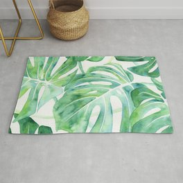 Monstera Leaf Pattern Rug
