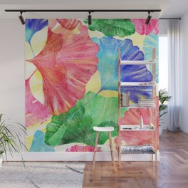 Colorful Ginkgo Leaves  Wall Mural