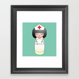 Kokeshi Nurse Framed Art Print