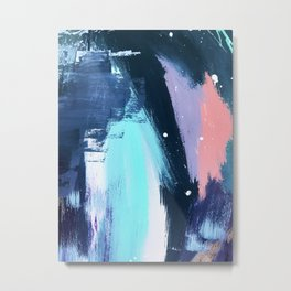 Playful [3]: a bold abstract piece in vibrant blues, pink, purple and white Metal Print