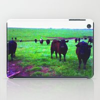 cows iPad Cases featuring Cows by 13th Moon Social Club