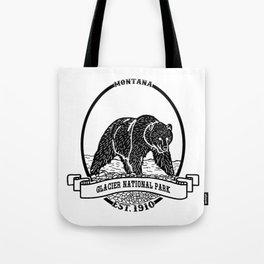 Glacier National Park Emblem Tote Bag