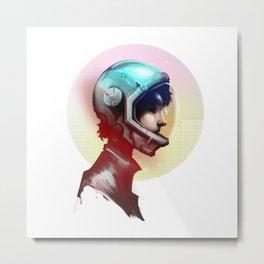 Helmet Metal Print