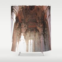 shiva Shower Curtains featuring Bhojpur Shiva Temple by Four Hands Art