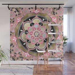 Elegant girly tribal mandala design Wall Mural