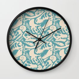Fossil Pattern Wall Clock