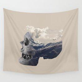 Mountain Skull Face Wall Tapestry
