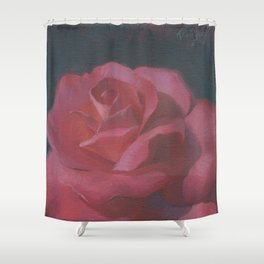 A Rosy Disposition Shower Curtain
