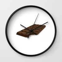 chocolate Wall Clocks featuring Chocolate by David Pires