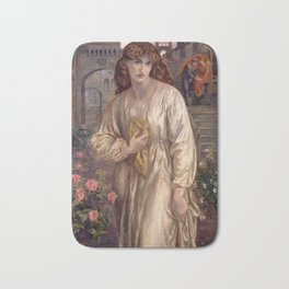 Dante Gabriel Rossetti - Salutation of Beatrice, 1880 Bath Mat