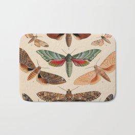Vintage Natural History Moths Bath Mat