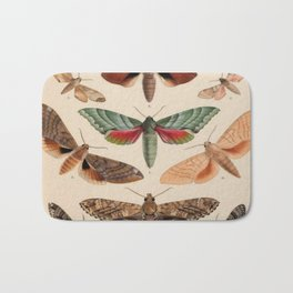 Vintage Natural History Moths Bath Mat