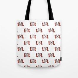 Funny Emoji Laughing Out Loud Pattern Tote Bag