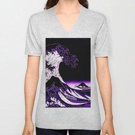 The Great Wave : Purple Unisex V-Neck