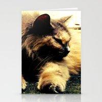 hemingway Stationery Cards featuring Hemingway Cat by Derek Fleener