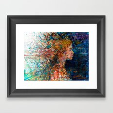 SOMEWHERE IN HER MUSINGS SHE BID FAREWELL Framed Art Print