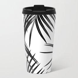 Black Palm Leaves Dream #1 #tropical #decor #art #society6 Metal Travel Mug