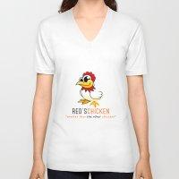 oitnb V-neck T-shirts featuring Red's Chicken | OITNB by Sandi Panda