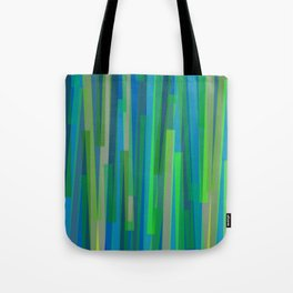 Geometric Blue Green Painting Tote Bag