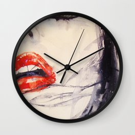 Kisses are prohibited Wall Clock