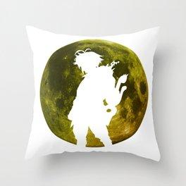 Anime Moon Inspired Design Throw Pillow