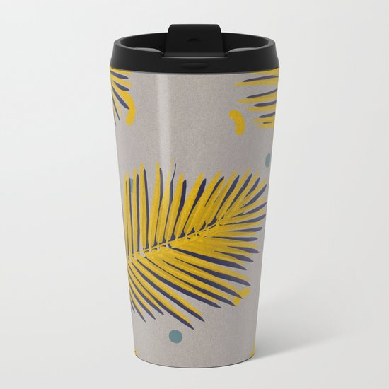 Palm leaf 1 Metal Travel Mug