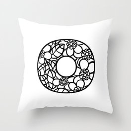 Letter O Throw Pillow