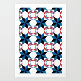 Blue Rhapsody - By  SewMoni Art Print