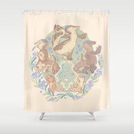 Happy little frogs Shower Curtain